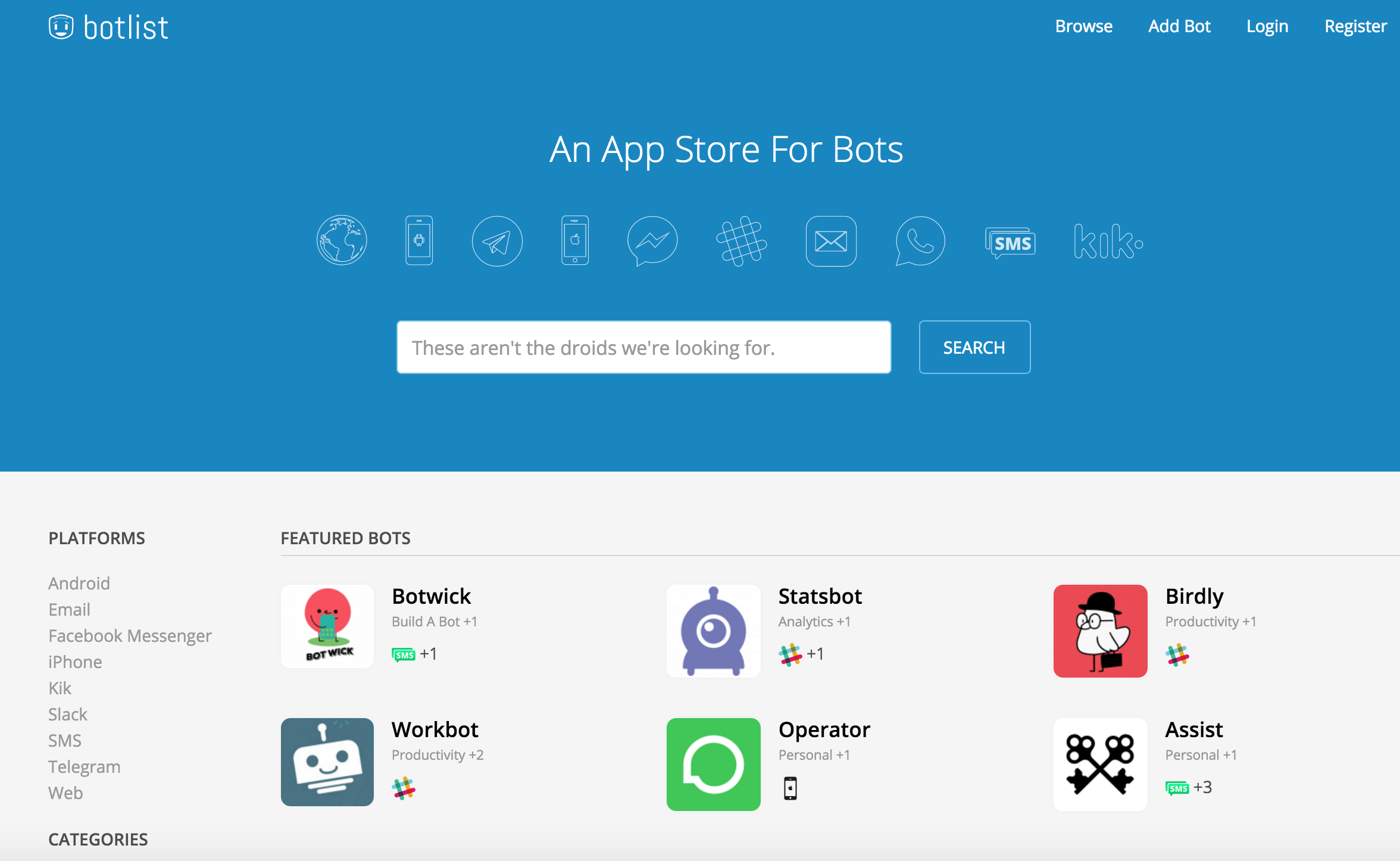 Botlist The App